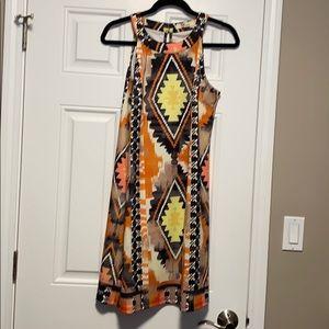 Fun print slip on dress